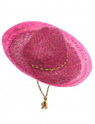 Sombrero mexicano cor-de-rosa adulto