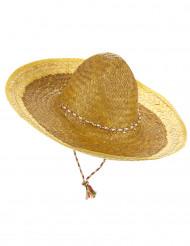 Sombrero mexicano amarelo adulto