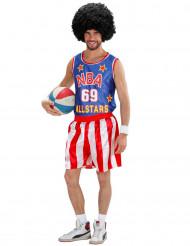Disfarce de jogador de basquetebol NBA adulto