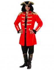 Disfarce capitão pirata homem vermelho