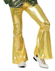 Calças Disco em dourado para homem