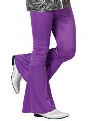 Calças Disco em lilás para homem