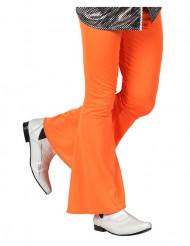 Calças disco homem cor de laranja