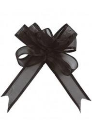 5 Mini laços organdi preto 16 mm