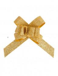 10 Laços flower dourados