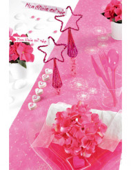 4 Pequenos cones brilhantes cor-de-rosa