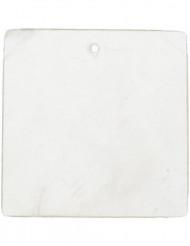 6 marcadores de lugar quadrados branco