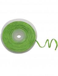 Rolo de ráfia com fio metálico verde
