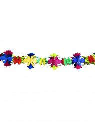grinalda papel flore 4 metros