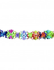 Grinalda papel multicores motivos flores