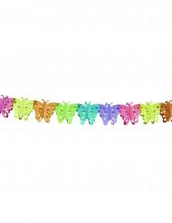Grinalda de papel borboleta colorida