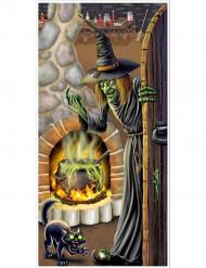 Decoração de porta Casa de bruxa