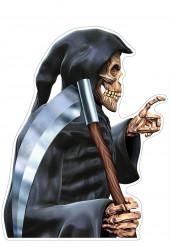 Decoração adesiva para carro Senhor da morte Halloween