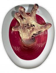 Decoração autocolante para sanita Mão de zombie