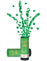 Canhão de confetis verdes São Patrício