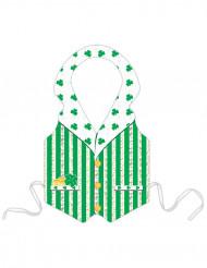 Avental de plástico Leprechaun verde adulto São Patrício
