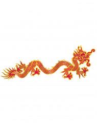 Decoração mural dragão vermelho e dourado Ano Novo chinês