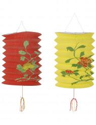 Lanternas chinesa vermelha e amarela