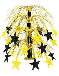 Centro de mesa estrelas pretas e douradas