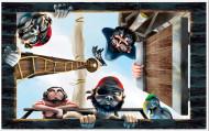Decoração mural barco de pirata