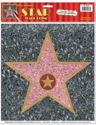Decoração de parede estrela Walk of Fame 27 cm
