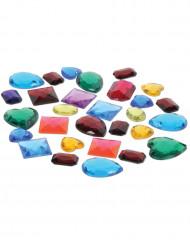 Saco de pedras preciosas falsas de cores diferentes