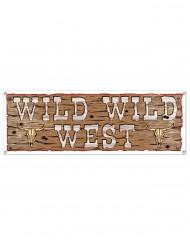 Bandeirola de plástico Wild Wild West 1.5 m x 53.3 cm