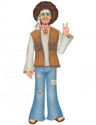 Figurina gigante em cartão homem hippie 94 cm