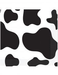16 Guardanapos de papel pelagem de vaca 33 x 33 cm