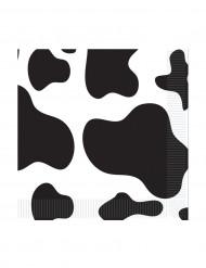 16 Guardanapos de papel pelagem de vaca 25 x 25 cm