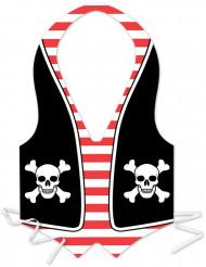 Avental de plástico homem pirata