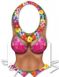 Avental de plástico mulher Havaí