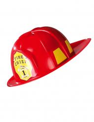 Capacete de bombeiro adulto vermelho