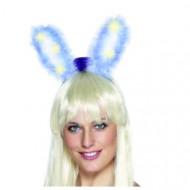 Orelhas de coelho azuis luminosas