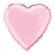 Balão rosa coração 45cm