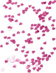 Confetes corações cor-de-rosa escuro