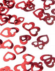"""Confetes \""""Corações vermelhos\"""""""