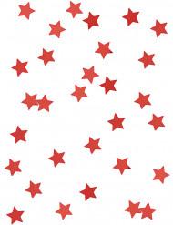 Confetes estrelas vermelhas