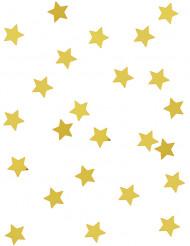 Confetis estrelas metálicas douradas