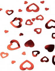 Confetis corações vermelhos São Valentim