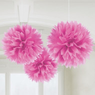 Decorações para pendurar bola cor-de-rosa