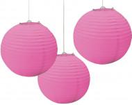 3 Lanternas cor-de-rosa