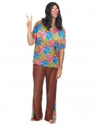 Disfarce de hippie homem calças à boca de sino