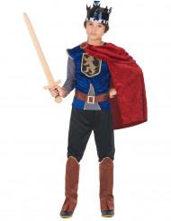 Disfarce rei medieval menino