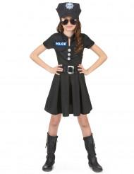 Disfarces de polícia menina