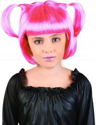 Peruca cor de rosa menina