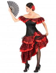 Disfarce dançarina de flamenco mulher