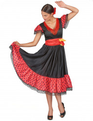 Disfarce de dançarina de flamenco mulher