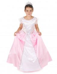 Disfarce princesa menina rosa e branco
