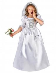 Disfarce de noiva menina com véu
